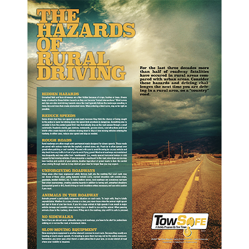 Hazards of Rural Driving poster