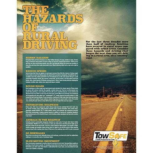 Hazards of Rural Driving poster