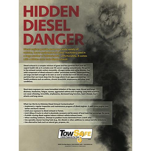 Hidden Diesel Danger Poster