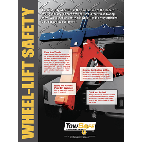 Wheel Lift Safety Poster